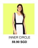 INNER CIRCLE Monotone Colour Block Dress