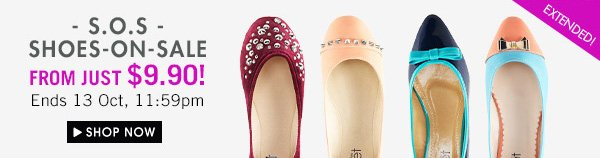Shoes on sale from just $9.90!