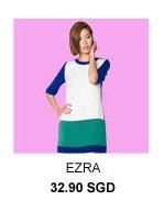 EZRA Colourblocked Shift Dress