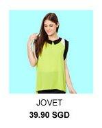 JOVET Tri-colour Block Top