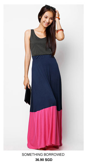 SOMETHING BORROWED COLLECTION Colourblock Maxi Dress