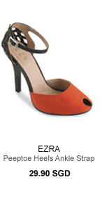 EZRA Peeptoe Heels With Ankle Strap And Studs Detailing