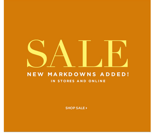New Markdowns Added In-Store And Online!