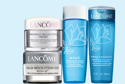 LANCOME | BIENFAIT MULTI-VITAL NIGHT | HIGH RESOLUTION EYE REFILL-3X(TM) | BI-FACIL | TONIQUE RADIANCE
