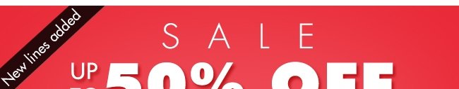 Sale! up to 50% off