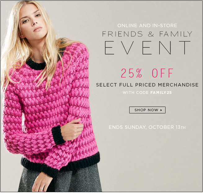 Shop Friends and Family