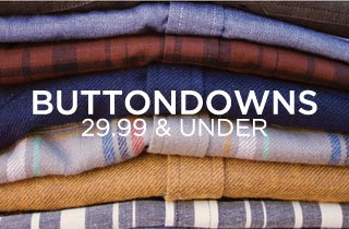 Buttondowns 29.99 & Under