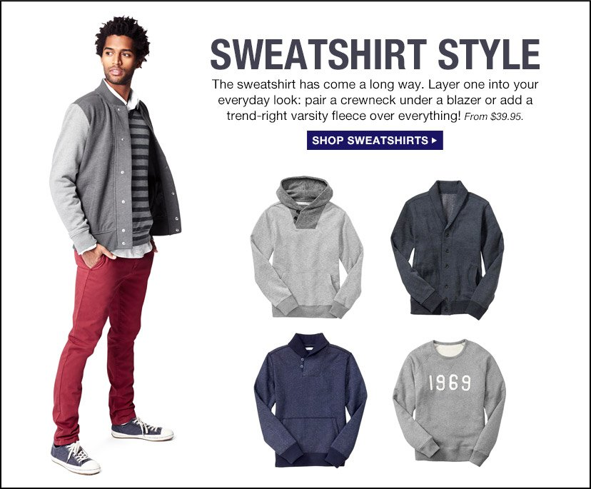 SWEATSHIRT STYLE | SHOP SWEATSHIRTS
