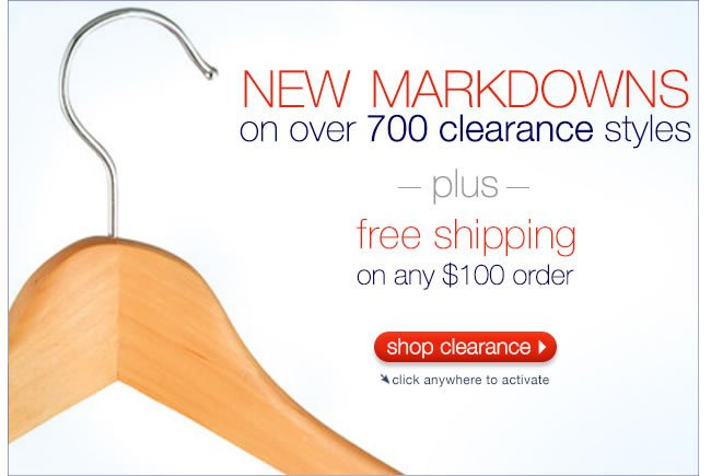 New Markdowns On Over 700 Clearance Styles