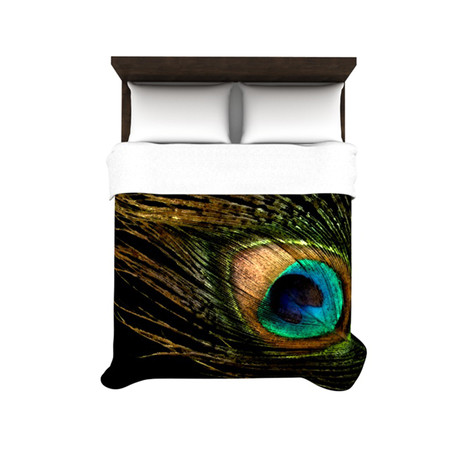 "Alison Coxon ""Peacock Black"" Duvet Cover"