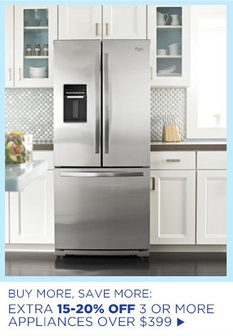 Buy More, Save more: Extra 15-20% Off 3 or More Appliances over $399