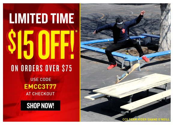 Email Exclusive! Take $15 off ordes over $75!*