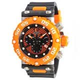 Invicta 10039 Men's Subaqua Nitro Diver Black and Orange Dial Rubber Strap Chronograph Watch