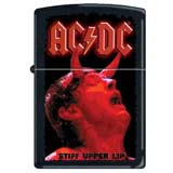 Zippo 5919 Classic AC/DC Stiff Upper Lip Black Matte Finish Windproof Pocket Lighter