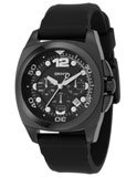 DKNY NY1445 Men's Rubber Strap Black Ion Plated Watch