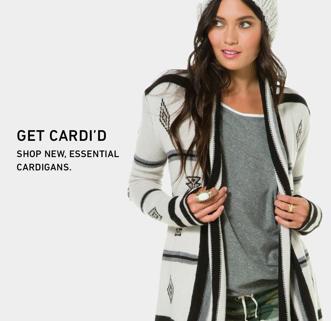 Get Cardi'd. Shop New Cardigans