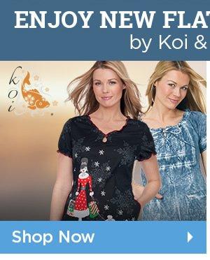 Enjoy Flattering Prints by Koi - Shop Now