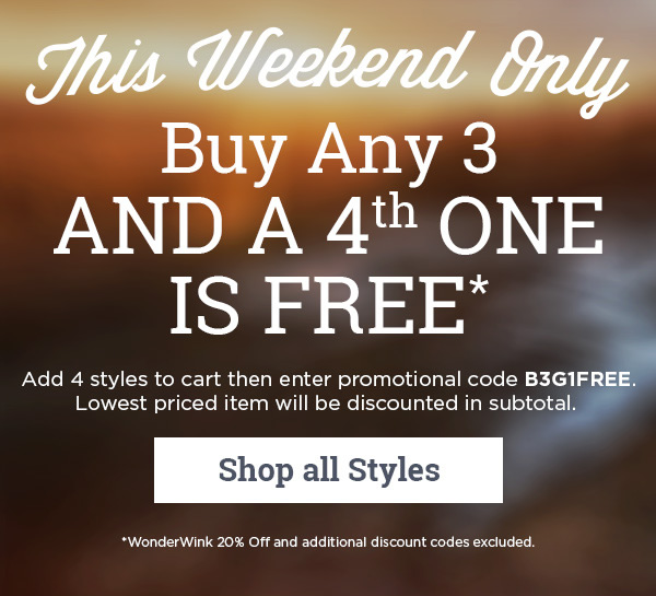 Buy Any 3 and a 4th One is Free - Shop all Styles