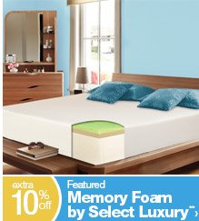 extra 10% off Featured Memory Foam by Select **