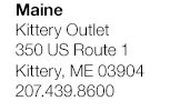 Maine - Kittery Outlet
