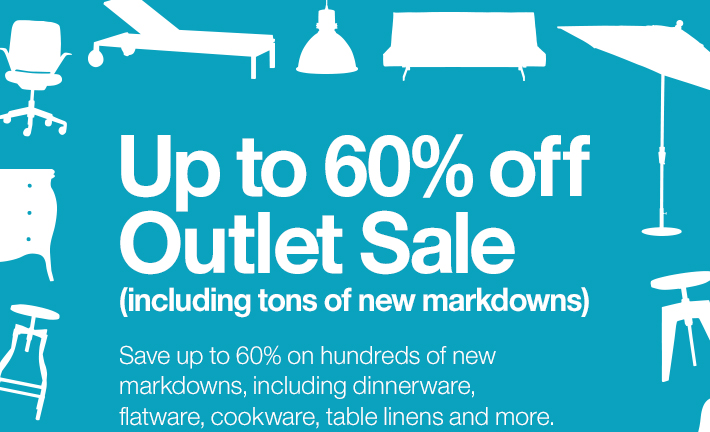 Up to 60% off Outlet Sale (including tons  of new arrivals)