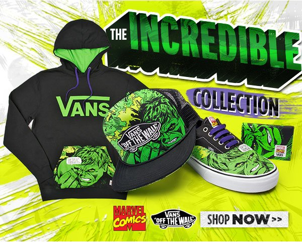 The Incredible Hulk Vans Collection