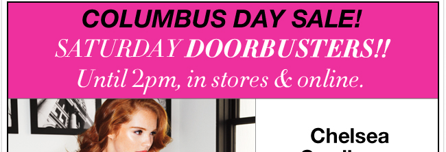 Saturday Doorbusters Until 2pm + $100 Off in-stores & online! Shop Now!