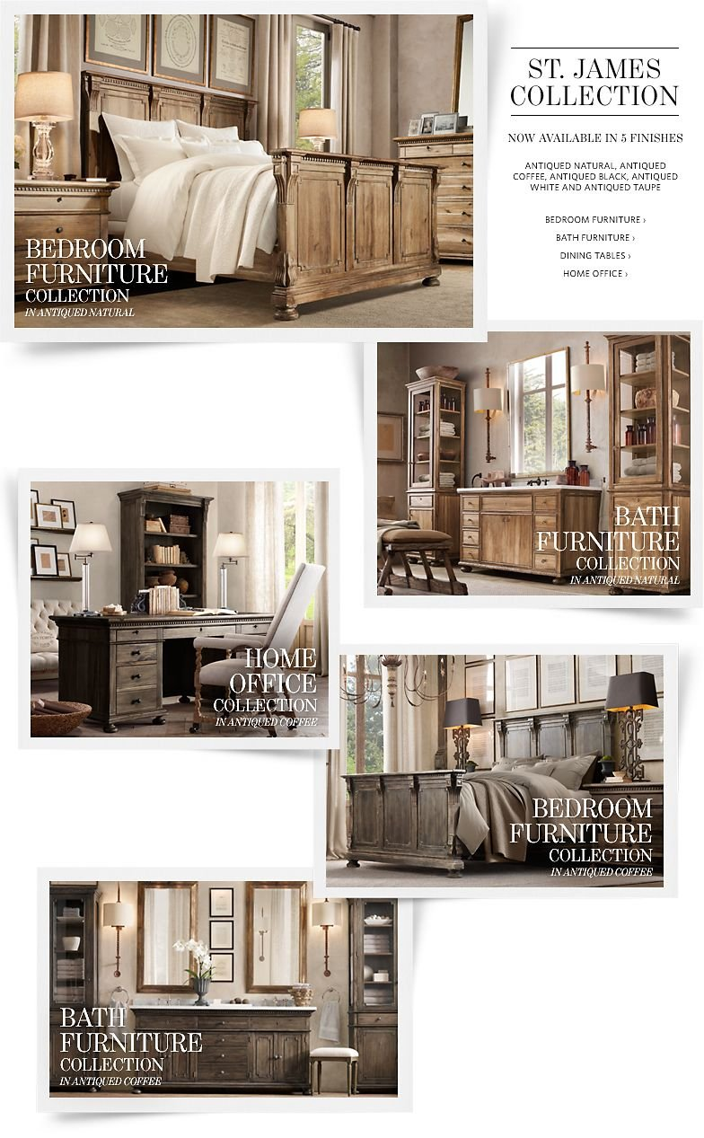 St. James Collection - Now Available in 5 Finishes