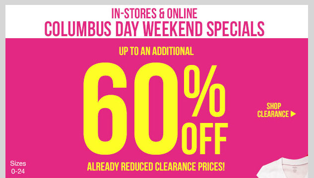 CLEARANCE SALE! Up to an ADDITIONAL 60% OFF Already Reduced Clearance Prices! See cart for savings! SHOP NOW!