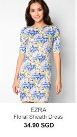 EZRA Floral Sheath Dress