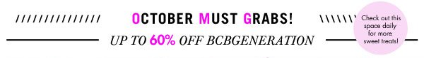 BCBGENERATION up to 60% off