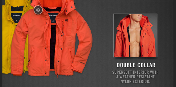 DOUBLE COLLAR | SUPERSOFT INTERIOR WITH A WEATHER RESISTANT NYLON EXTERIOR.