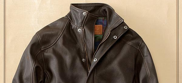 Built to last, this substantial leather jacket is expertly crafted from genuine American bison leather for a lifetime of faithful service. There is simply no subsitute for the look, the feel, and the long-wearing durability of genuine  leather.