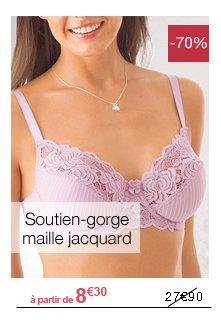 Soutien-gorge maille jacquard