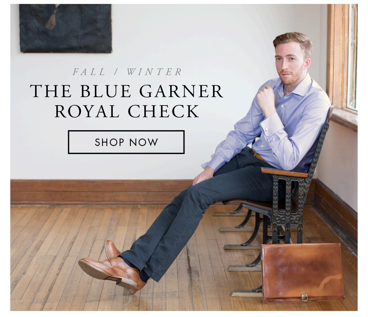 The Blue Garner Royal Check