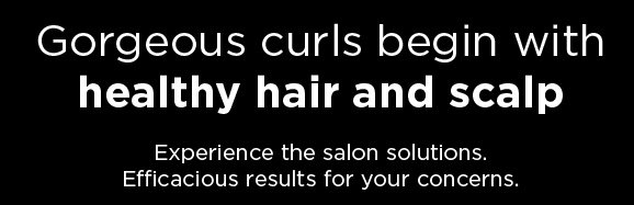 Gorgeous curls begin with healthy hair and scalp. Experience the salon solutions.