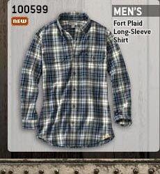 Men's Fort Plaid Long-Sleeve Shirt