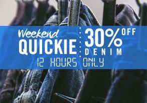Shop Weekend Quickie: Extra 30% OFF Denim