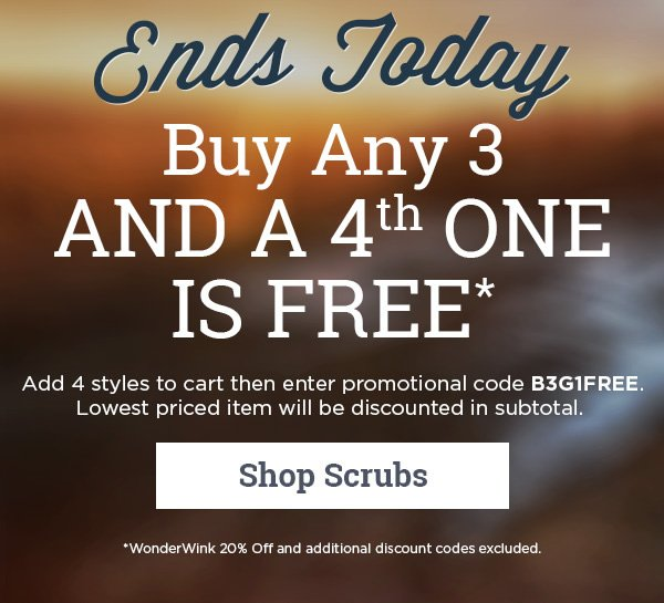 Buy any 3 and a 4th one is FREE - Shop Scrubs