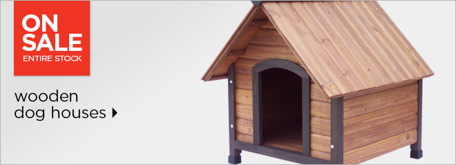 Wooden dog houses - entire stock on sale