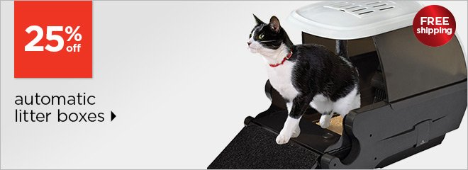 25% off automatic litter boxes