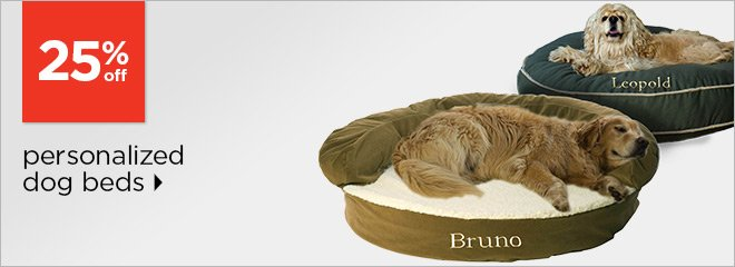 25% off personalized dog beds