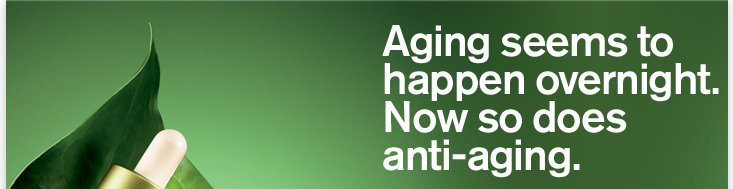 Aging seems to happen overnight Now so does anti aging