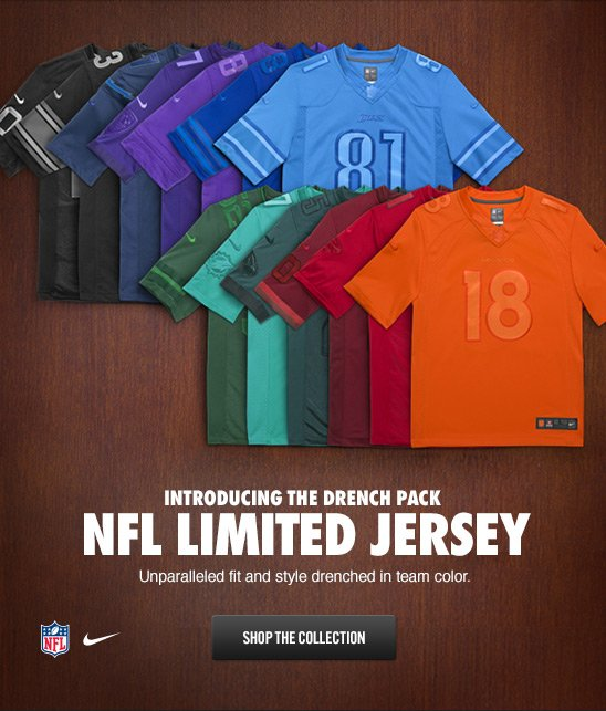 INTRODUCING THE DRENCH PACK NFL LIMITED JERSEY | SHOP THE COLLECTION