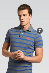 twist yarn polo shirt