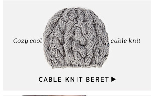 Cable Knit Beret - Cozy soft cable knit
