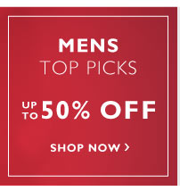 Men's sale up to 50% off