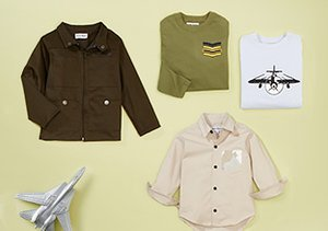 Young Aviator: Boys' Jackets, Tees & Cargos