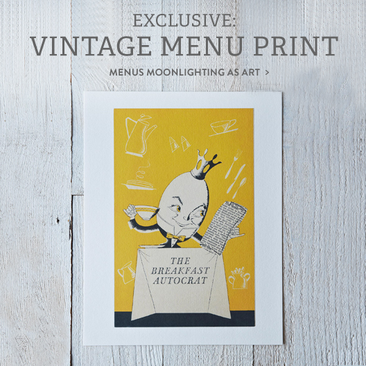 Vintage Menu Print