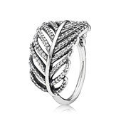 Silver ring with micro pave set cubic zirconia